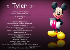 Angies Creation is a Hub for Meaning Of Names. Tyler Name, Scottish Names, Adhd Odd, Oppositional Defiant Disorder, Person Search, Personal Integrity, Birth Announcement Photos, Names
