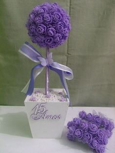 Birthday Table Centerpieces Ideas Tissue Paper 67 Ideas For 2019 Quinceanera Centerpieces, Party Centerpieces, Crepe Paper Flowers, Fabric Flowers, Diy And Crafts, Paper Crafts, Birthday Table, Flower Ball, Flower Crafts