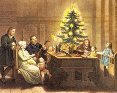 Some historians trace the lighted Christmas tree to Martin Luther.