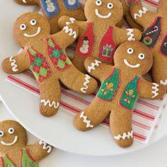 Sweater Vest Gingerbread Cookies