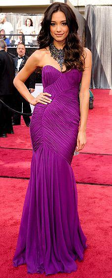 Rachel Smith, former Miss USA and Cinderella Girl, at the 2012 Oscars.