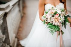 Nicola Adam is a florist located in Vancouver. With a focus on natural, lush garden-like arrangements using only the fre. Floral Wedding, Wedding Flowers, Wedding Dresses, Lush Garden, Garden Roses, Blush Bridal, Dahlias, Bridal Bouquets, Fashion