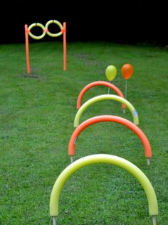 Ulitimate Nerf Party Obstacle Course made with pool noodles.lord help me if i have to put on a nerf party Nerf Birthday Party, Nerf Party, Birthday Games, 7th Birthday, Birthday Ideas, Harry Birthday, Ninja Party, Birthday Supplies, Frozen Birthday