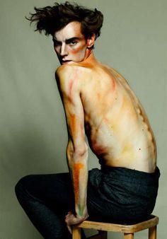 Egon Schiele Inspires the Hunger Magazine Wired Editorial #mensfashion