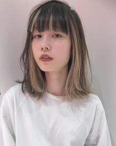 There are so many different types of bangs out there, that it can be extremely hard to choose the ones for you, so we're here to help! Two Color Hair, Hair Color Streaks, Blonde Streaks, Dye My Hair, New Hair, Aesthetic Hair, Grunge Hair, Scene Hair, Hair Removal