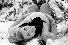 Winter Maternity Photo by Angela Roberts Photography