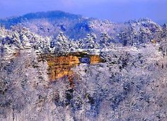 Red River Gorge Kentucky, in winter | Double Arch, Red River Gorge.