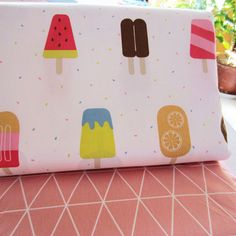 One PCS Cotton Fabric Pre-Cut Quilt cloth Fabric for Sewing Colored Popsicle #other