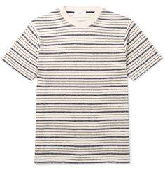 Mr P. - Bouclé-Striped Cotton-Blend Jersey T-Shirt