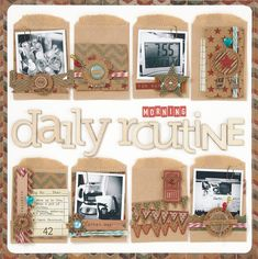 Scrapbook Inspiration: Use 10 or More Types of Embellishments on a Scrapbook Layout