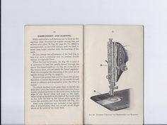 Singer Redeye  Sewing Machine Instruction ManualEarly