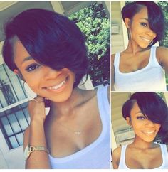 Bobs and weaves are extremely in trends lately. Here we have rounded up Super Bob Weave Hairstyles that will make you want a bob! Check these trendy hair. Weave Hairstyles, Pretty Hairstyles, Straight Hairstyles, Amazing Hairstyles, Short Hair Cuts, Short Hair Styles, Natural Hair Styles, Coiffure Hair, Short Hair