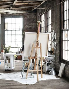 Get inspired by the beautiful organized chaos of these artists creative work spaces. There's something undeniably romantic about an artist's studio. They're always filled with light, and paper covered in scribbles and sketches. It's the