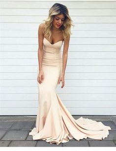 Bg41 Graceful Strapless Mermaid Prom Dresses With Sweep Train,2016 Simple Long…