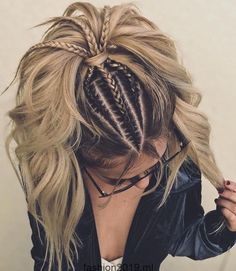 New hair color pastel grey colour 47 ideas Hair Color Highlights, Blonde Color, Ombre Colour, Red Colour, Black Highlights, Balayage Highlights, Trendy Hairstyles, Braided Hairstyles, Braided Ponytail