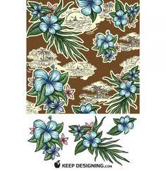 Beautiful Tropics Floral Seamless Pattern PSD - http://www.welovesolo.com/beautiful-tropics-floral-seamless-pattern-psd/
