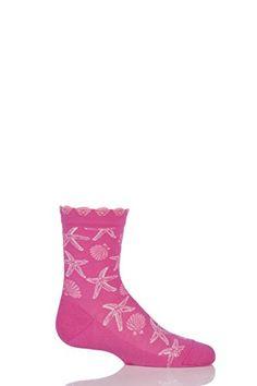 57747a7285b FALKE Girls 1 Pair Falke Cotton Seashell and Starfish Socks with Frill Top  Sock Shop