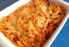 WW Ground Meat Pasta Gratin - Dish and Recipe - Diet Ww Recipes, Healthy Dinner Recipes, Crockpot Recipes, Recipe Lists, Weigth Watchers, Gratin Dish, Mince Meat, Batch Cooking, Baked Chicken Recipes
