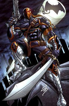 Dc Comics Superheroes, Dc Comics Art, Marvel Dc Comics, Deathstroke Comics, Deathstroke The Terminator, Comic Book Characters, Comic Character, Comic Books Art, Comic Art