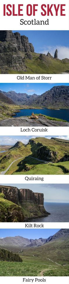 Discover the stunning landscapes of the Isle of Skye Scotland in photos – Waterfalls, mountains, bridges, fairy tale scenery, lochs… all the things to do o Scotland Vacation, Scotland Road Trip, Scotland Travel, Ireland Travel, Sky E, Photo Cascade, Isle Of Skye Map, Outlander, Ciel E