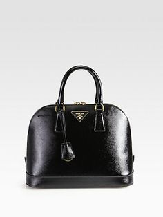 Prada - Saffiano Vernice Bugatti Top Handle Bag