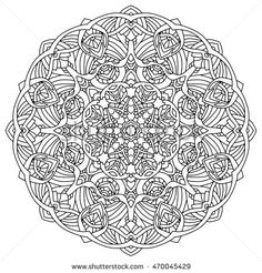 Mandala. Vintage Round Ornament Pattern. Decorative element for any kind of design. Coloring book.