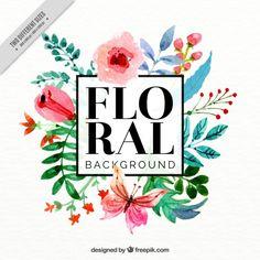 Fondo decorativo de flores de acuarela Vector Gratis