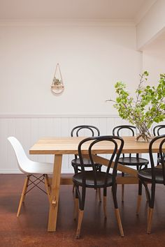 """On their proudest DIY: """"Our six original Thonet dining chairs! These chairs were the original ones used by the diners at the former George Hotel in St. Kilda. They came straight off the ship and to the restaurant post-war and have been in use since."""""""