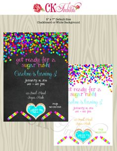Sweet Shoppe Birthday Invite by ckfireboots on Etsy Cute for Vanellope or Wreck it Ralph party