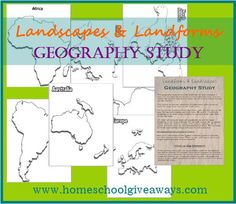 Landscapes & Landforms Geography Study for Upper Grades - Homeschool Giveaways Geography Lessons, Teaching Geography, World Geography, Teaching History, History Education, Kids Education, 6th Grade Social Studies, Social Studies Classroom, Teaching Social Studies
