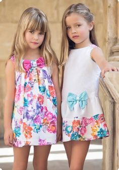 Cute dresses on cute girls Little Girl Outfits, Little Girl Dresses, Kids Outfits, Little Girl Fashion, Toddler Fashion, Kids Fashion, Baby Girl Dresses, Baby Dress, Cute Dresses