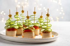 Zdravé a fešné jednohubky na Vánoce i Silvestra Christmas Canapes, Christmas Party Food, Beach Christmas, Xmas Food, Christmas In July, Christmas Buffet, Christmas Baking, Christmas Crafts, Noel