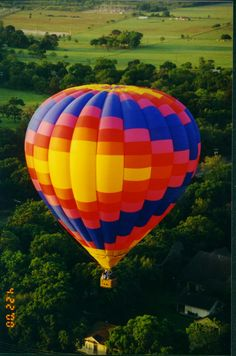 Hot air balloon ride counts as a place, right? or maybe just a method of travel. Either way.