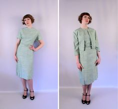 1950s  day dress with jacket