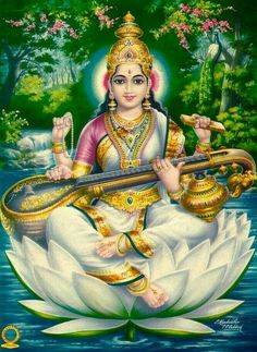 India Saraswati collection of 3 vintage Hindu posters x Ӝ Saraswati Photo, Saraswati Mata, Saraswati Goddess, Goddess Lakshmi, Shiva Shakti, Indiana, Lakshmi Images, Lord Shiva Painting, Lord Murugan Wallpapers