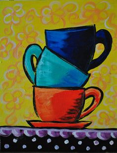 coffee cup paintings - Yahoo Image Search Results
