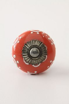 Sunflower Medallion Knob, Coral - eclectic - knobs - other metro - Anthropologie Knobs And Handles, Knobs And Pulls, Drawer Pulls, Door Handles, Dresser Knobs, Door Knobs, Door Knockers, Kitchen On A Budget, Diy On A Budget