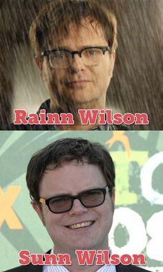 funny celebrity name pun rainn wilson