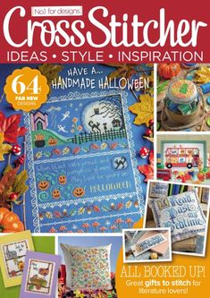 The October issue of Cross Stitcher magazine will be on sale in shops tomorrow! Cross Stitch Uk, Cross Stitch Books, Cross Stitch Charts, Cross Stitch Designs, Cross Stitch Patterns, Magazine Cross, Cross Stitch Magazines, Halloween 20, Cross Stitch Collection