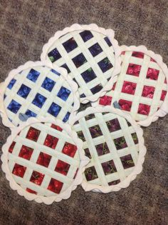 adorable quilted pot holders - look just like pies! | Quilt Stuff ... : quilted hot pad patterns free - Adamdwight.com