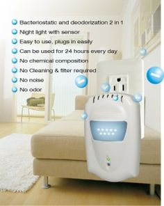 Does the air in your home need some cleaning? Anion Plug-in Air Purifier and Ionizer
