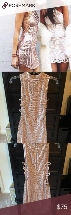 4065af2255c LF Sequin Dress LF Sequin Dress. Blush pink color. Size small. Only worn