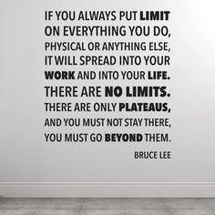 There are no limits - Bruce Lee väggdekor → Från endast 284 kr!
