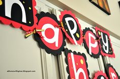 Mickey/Minnie Mouse banner - cricut