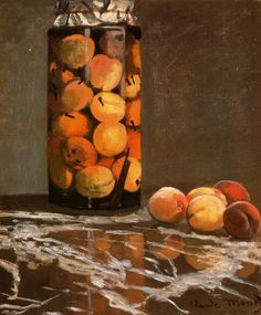 The Athenaeum - Jar of Peaches (Claude Oscar Monet - )