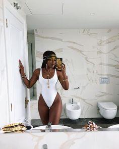 white one piece swimwear scoop neck monokini swimsuits 2020 modest one piece swi. - white one piece swimwear scoop neck monokini swimsuits 2020 modest one piece swimsuit plain one piece bikinis for teens Source by worthtryit - Monokini Swimsuits, Cute Swimsuits, Women Swimsuits, One Piece Bikini, One Piece Swimwear, Slimming Bikinis, Instagram Baddie, Black Girl Instagram, Instagram Fashion