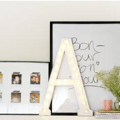 The simplest marquee letter DIY ever!  #craftgawker