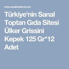 Türkiye'nin Sanal Toptan Gıda Sitesi Ülker Grissini Kepek 125 Gr*12 Adet