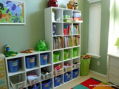 Joyful Homemaking: Shared Room for a Boy and Girl. Lots of shelves & cubbies!!