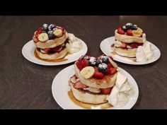 I'm so excited to share my very first recipe with you. I've tried and tested this recipe multiple times. Its really worth the effort the pancakes w. Souffle Pancakes, Meals For One, Japanese, Homemade, Breakfast, Youtube, Recipes, Food, Morning Coffee
